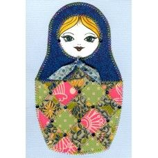 Matryoshka Doll Paper Quilt Greeting Card Pattern