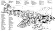 Ww2 Aircraft, Aircraft Design, Cool Posters, Ferrari, Cutaway, How To Plan, Technical Drawings, Airplane, Motors