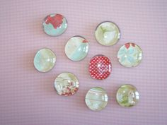 Finished marble magnets by amylcluck, via Flickr