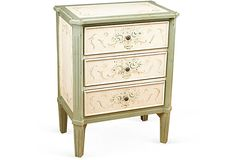 Perfect for night table(s) in the French bedroom.    Francesca 3-Drawer Side Table