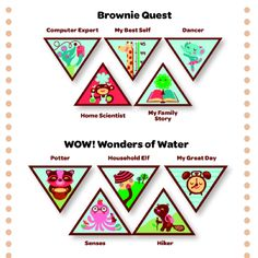 BROWN VINTAGE GIRL SCOUT BROWNIE GIRL SCOUT TRY-ITS OUTDOOR FUN ECO
