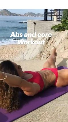 Flat Belly Workout, Gym Workout Videos, Abs Workout Routines, Gym Workout For Beginners, Fitness Workout For Women, Butt Workout, Core Workouts, Workout Challenge, Physical Fitness