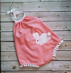 Baby Romper  Easter Romper Bunny Romper   by vintagestitches