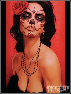 Vintage Odds and Ends: Daniel Esparza | Day of the Dead Artwork