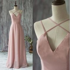 Pink V-neck spaghetti Strap long prom dresses,2017 formal dresses sold by Dreamy Dress. Shop more products from Dreamy Dress on Storenvy, the home of independent small businesses all over the world.