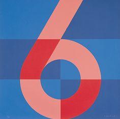 Anton Stankowski, Zahlenbild Nummer 6, 1970s.Studie für das Stadthaus in Bonn