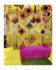 Destination Wedding Decor, Desi Wedding Decor, Floral Wedding Decorations, Mehendi Decor Ideas, Mehndi Decor, Umbrella Decorations, Backdrop Decorations, Simple Stage Decorations, Wedding Backdrop Design
