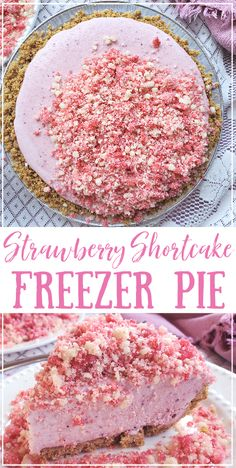 Frozen Desserts, Summer Desserts, Easy Desserts, Delicious Desserts, Yummy Food, Frozen Strawberry Desserts, Homemade Desserts, Summer Recipes, Yummy Treats