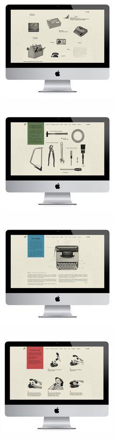 Vintage ui inspiration  Smart Attitude - Web 2014 http://smartattitude.es/