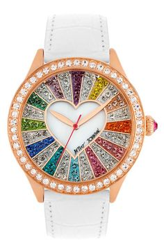 muticolored crystal watch