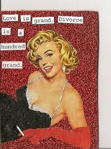 blunt card---- Divorce is grand