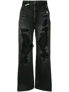 Black Ripped Jeans, Low Rise Skinny Jeans, Wide Leg Jeans, Women's Jeans, Cute Swag Outfits, Pretty Outfits, Grunge Outfits, Grunge Jeans, Aesthetic Clothes
