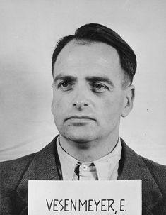 Edmund Veesenmayer's mugshot for the Nuremberg Trials, 1946