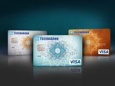Credit cards design by Katerina Tulyakowa, via Behance