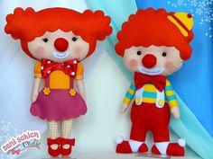 Cutest little felt clowns ever! I love felt!