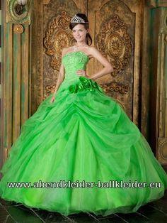 Cinderella Ballkleid Weites Abendkleid Brautkleid in Grün