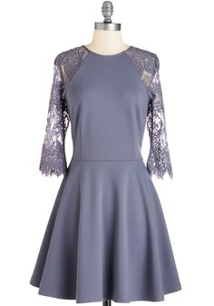 Leave it to Ornate Dress. Will tonight lead to a party or a dinner date with your sweetie? #purple #modcloth
