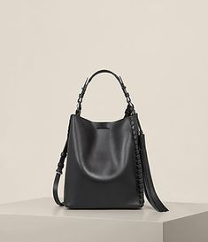 4232613bde71 Womens Kepi Shoulder Bag (Black) - Image 1 Allsaints Bags