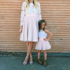 [Ella Brooks Blog] like mother like daughter.. Mommy and Me tulle skirt set