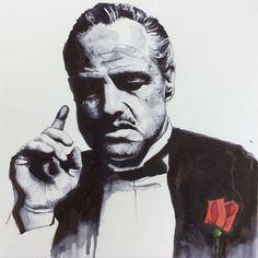 Don Vito Corleone Mafia, The Godfather Wallpaper, Godfather Quotes, Godfather Movie, Don Corleone, Father Tattoos, Gangster Movies, Forrest Gump, Marlon Brando