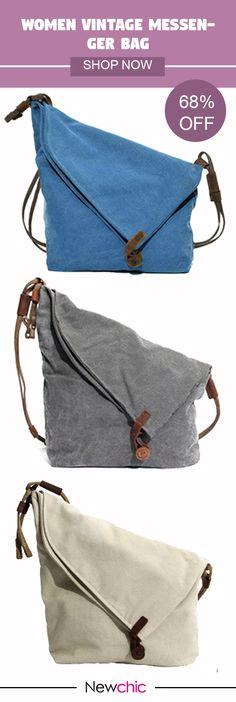 Women Vintage Messenger Bag Genuine Leather Canvas Crossbody Bag Tribal  Rucksack is designer 5a53784ae4eef