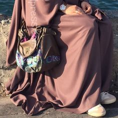 In Love with my brown turkish Çarsaf ❤️ Hijab Outfit, Modest Outfits, Muslim, Feminine, My Love, Brown, Clothes, Instagram, Women's