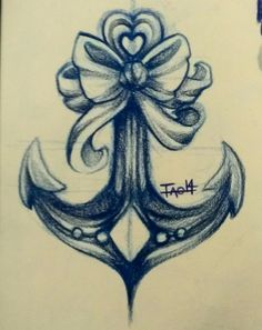 Tattoo Concept - Bow 'n Anchor by amymiu on DeviantArt