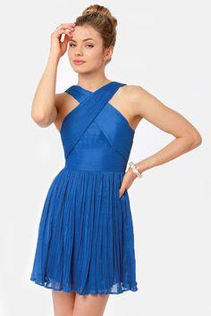 BB Dakota Kiefer Cobalt Blue Dress... such a pretty blue dress!! love