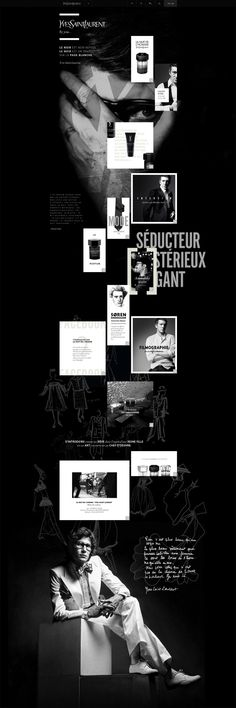 Yves Saint Laurent - tavanovincent #webdesign #YSL