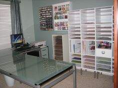 "Scraproom recollections storage cubes - Michaels; Captiva 8"" legs from Ikea"