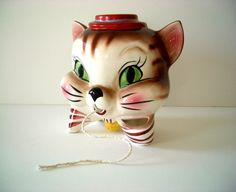 Vintage Cat String and Scissors Holder by REdesignkc on Etsy, $46.00