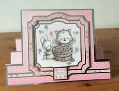 Hunkydory Smudge and Mitten stepper card