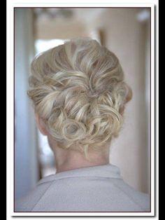Blonde up do