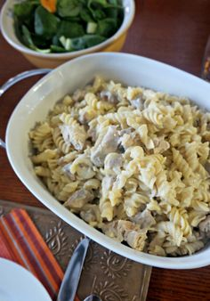 Creamy Chicken Casserole: AKA Amish Chicken. A rich and creamy chicken dish that has been elevated with wine and thyme.