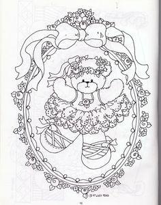 embroidery ballerina bear transfer... pergamano