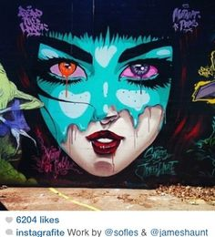 Cartoon//realism and graffiti - my favorite things!