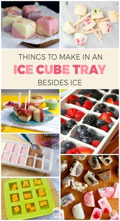 This is awesome! So many cool things you can make in an ice cube tray.