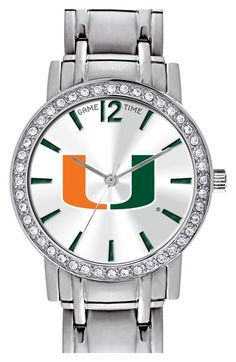 Women's Game Time Watches 'College All Star - University of Miami' Crystal Bezel…