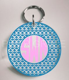 Keychain with Anchor Circle Outline and Monogram by PiperGraceGifts on Etsy https://www.etsy.com/listing/246331284/keychain-with-anchor-circle-outline-and