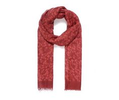 RED FLORAL Print Oversized Lightweight Fashion Scarf