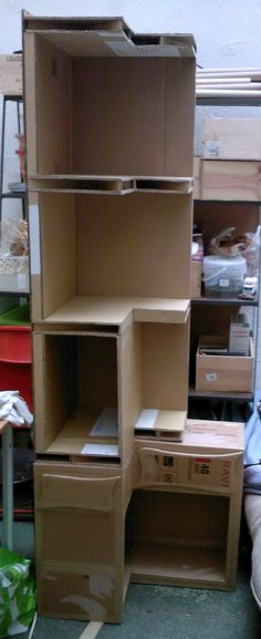20 Brilliant Craft Projects to Make and Sell Cardboard Organizer, Cardboard Storage, Cardboard Paper, Cardboard Crafts, Diy Cardboard Furniture, Paper Furniture, Furniture Making, Karton Design, Carton Diy