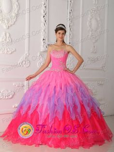 Quinceanera 2013 Colorful Dress With Ruched Bodice and Beaded Decorate Bust   IN Tranqueras Uruguay Style QDZY354FOR