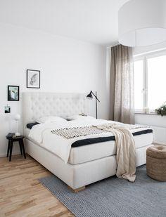Schlafzimmer mit guten Leseleuchten