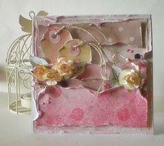 A rose card.