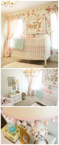 Vintage Glam Floral Nursery - perfection for a baby girl! | Project Nursery.