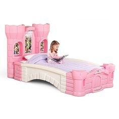 Step2 Princess Kids Palace Twin Bed for when she needs a big girl bed