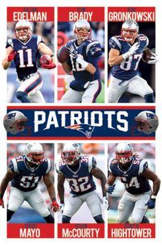 New England Patriots - Team 15 Poster Print (24 x 36)