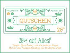 #socialjeck und die Deutsche Post geht ab: ab 11.11. um 11:11 verlosen wir Rabatt-Gutscheine für 1111 Nachsendeaufträge.