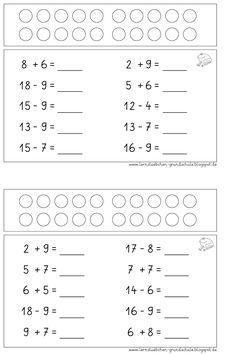 Stubchen Öğrenme: Mental Aritmetik artı ve eksi ZR 20 Math Worksheets, Math Activities, Kids Education, Special Education, Math 2, Simple Math, I School, Mathematics, Coloring Books