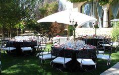 Banquete exterior - Montealegre - finca bodas Madrid - http://www.buscabodas.com
